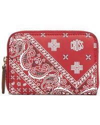 Mark Cross Zip Wallet Mini - Red