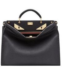 Fendi Peekaboo Iconic Fit - Black