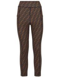 Fendi Brown Lycra® leggings