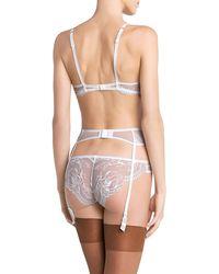 La Perla Lace Suspender Belt - White