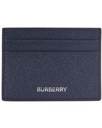 Burberry Sandon Leather Card Holder - Blue