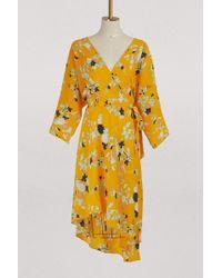 Diane von Furstenberg - Asymmetrical Dress With Long Sleeves - Lyst