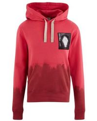 Acne Studios Sweatshirt à capuche tie and dye - Rose