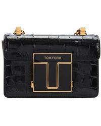 Tom Ford Sac porté épaule 001 Small - Noir