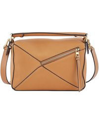 Loewe Tan Small Puzzle Bag - Brown
