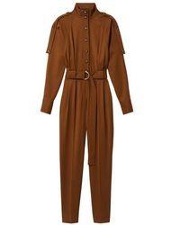 Proenza Schouler Wool Jumpsuit - Brown