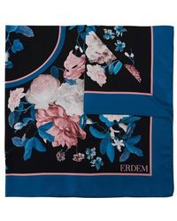 Erdem Small Printed Square - Blue