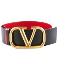 Valentino Garavani Reversible Vlogo Belt H. 7 Cm - Red