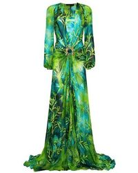 Versace Original Jungle Dress - Green