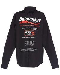 Balenciaga Printed Shirt - Black