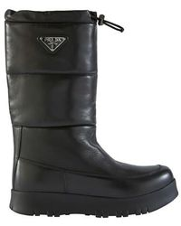 Prada toggled Snow Style Boots - Black