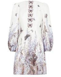 Zimmermann Luminous Butterfly Mini Dress - White