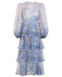 Zimmermann Luminous Midi Dress - Blue