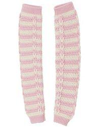 Miu Miu Häkelsocken - Pink