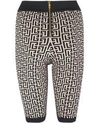 Balmain Monogram Shorts - Black