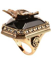 Alexander McQueen Butterfly Ring - Metallic