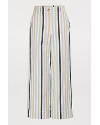 Tory Burch - Cropped Striped Trousers - Lyst