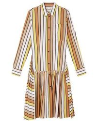Marni Flared Skirt Shirt Dress - Multicolour