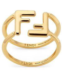 Fendi Ff Rings - Metallic