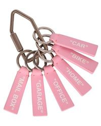 Off-White c/o Virgil Abloh Label Keyring - Pink
