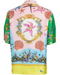 Versace Bedrucktes Hemd - Blau