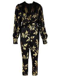 Dodo Bar Or Anatalya Velvet Jumpsuit - Black