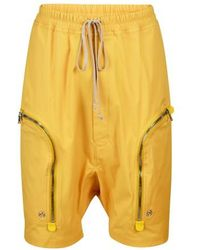 Rick Owens Bahaus Shorts - Yellow