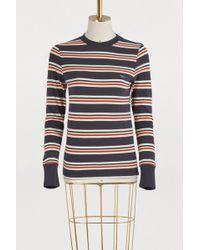 Maison Kitsuné - Striped Long Sleeve T-shirt - Lyst