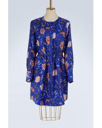 Diane von Furstenberg   Silk Cinched Waist Dress   Lyst