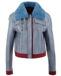 Sies Marjan Gabbie Leather Jacket - Blue