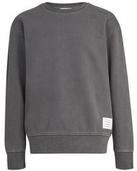 Thom Browne Round Neck Sweatshirt - Grey