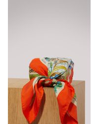 Gucci - Savana Print Silk Scarf - Lyst