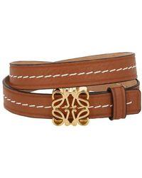 Loewe Anagram Double Bracelet - Brown