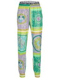 Versace Pantalon Tessuto - Vert