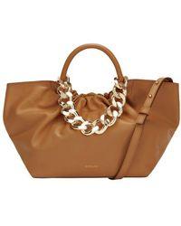 DeMellier Los Angeles Chain Bag - Brown
