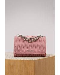 Miu Miu Club Matelassé Bag - Pink