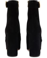 Gianvito Rossi Platform Ankle Boots - Black
