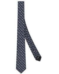 Fendi Light Blue Silk Tie