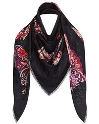 Louis Vuitton World Of Love Monogram Shawl - Black
