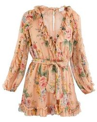 Zimmermann Zinnia Cotton Jumpsuit - Pink