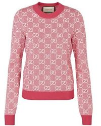 Gucci GG Motif Top - Pink