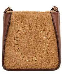 Stella McCartney Kleine Hobo Bag Stella mit Logo - Mehrfarbig
