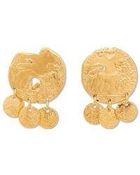 Alighieri Baby Lion Gold-plated Earrings - Metallic