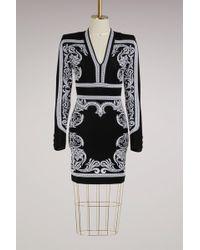 Balmain - Strech Mini Dress - Lyst