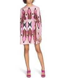 Valentino Printed Dress - Pink