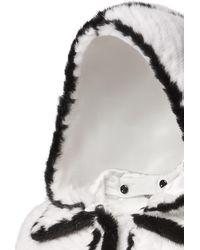 Fendi Jacke Aus Pelz - Weiß