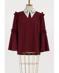 Vivetta Cat Collar Top - Red
