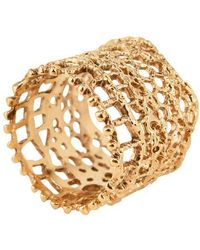 Aurelie Bidermann Lace Ring - Metallic