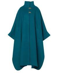 Alberta Ferretti Long Coat - Blue