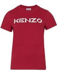 KENZO T-Shirt Logo - Rouge